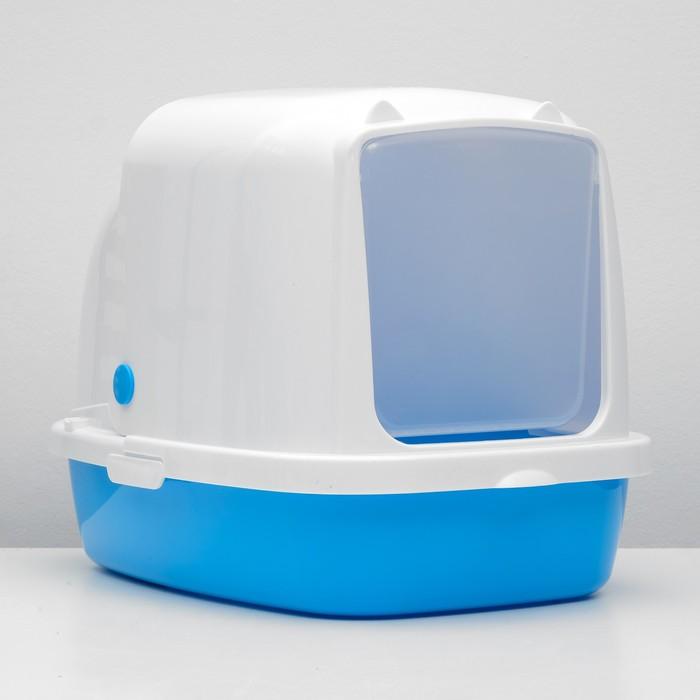 Туалет закрытый «Айша», 53 × 39 × 40 см, голубой