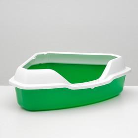 Туалет треугольный 56 х 42 х 17 см, зеленый