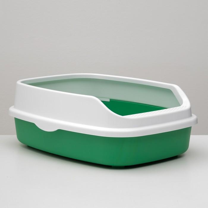 Туалет универсальный с бортом,  62 х 44 х 24 см зеленый