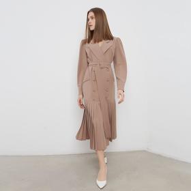 Платье женское MINAKU: Classic цвет бежевый, размер 48