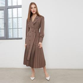 Платье женское MINAKU: Classic цвет шоколадный, размер 42