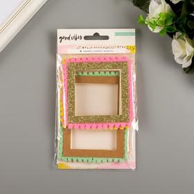 """Набор картонных рамок Crate Paper """"Good Vibes"""" 4 шт"""