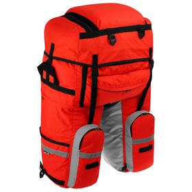 Велосумка на багажник Course 80-100+ л, цвет красный