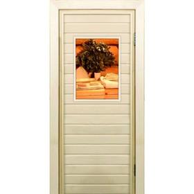 """Дверь для бани со стеклом (40*60), """"Банные радости"""", 170×70см, коробка из осины"""