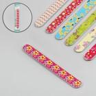 Пилка наждачная для ногтей, абразивность 180, 18см, цвет МИКС