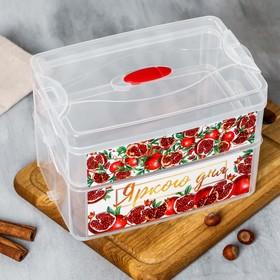 Пищевой контейнер «Яркого дня», двухуровневый, 2 л и 3 л
