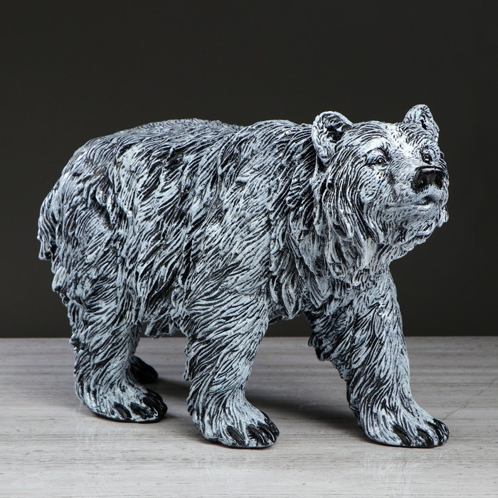 """Статуэтка """"Медведь"""", серый, 33 см"""