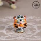"""Souvenir """"cat with bow"""", 3.5 cm, Gzhel , color"""