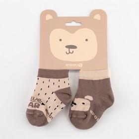 """Набор носков Крошка Я """"Мишка"""", 2 пары, 10-12 см"""