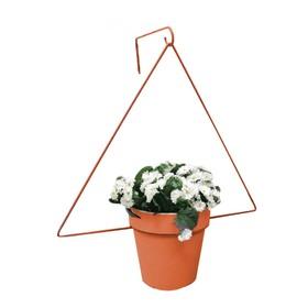 Держатель для кашпо, d = 17,5 см, с кронштейном, оранжевый Ош