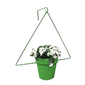 Держатель для кашпо, d = 17,5 см, с кронштейном, зелёный