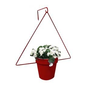 Держатель для кашпо, d = 17,5 см, с кронштейном, рубин Ош