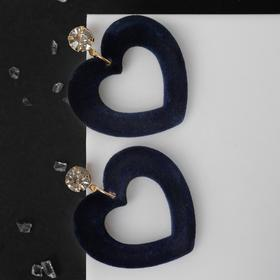 """Earrings assorted """"Form"""" hearts, color green-white gold"""