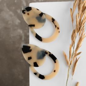 "Plastic earrings ""Tanzania"", the Duo drops color light leopard"