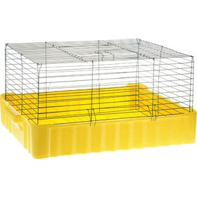 Rabbit cage, No. 4, 75 x 46 x 40 cm, yellow/green