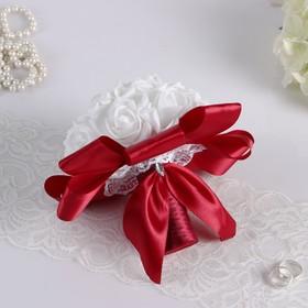 Bouquet understudy, Marsala, with a latex flower