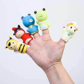 "A set of bath toys, Finger theatre ""Cute animals"""