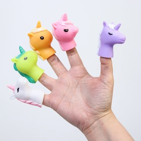 "A set of bath toys, Finger theatre ""Unicorns"""