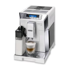 Кофемашина DeLonghi ECAM 45.764 W, автоматическая, 1450 Вт, 2 л, 0.4 кг, белая