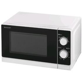 Микроволновая печь Sharp R-2000RW, 800 Вт, 20 л, таймер, чёрно-белая