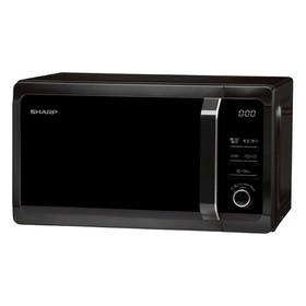 Микроволновая печь Sharp R6852RK, 800 Вт, 20 л, таймер, гриль, чёрная