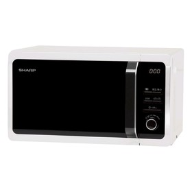 Микроволновая печь Sharp R2852RW, 800 Вт, 20 л, таймер, блокировка от детей, чёрно-белая
