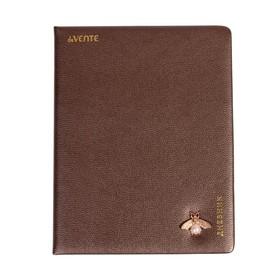 Дневник универсальный для 1-11 классов Bronze color with decoration, твёрдая обложка, искусственная кожа, тиснение фольгой, ляссе,тонированный блок