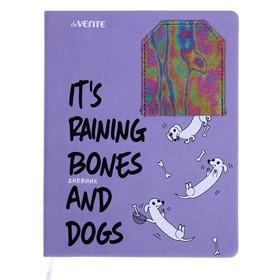 Дневник универсальный для 1-11 классов Funny dogs, твёрдая обложка, искусственная кожа, аппликация, шелкография, ляссе