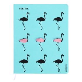 Дневник универсальный для 1-11 классов Fur flamingo, твёрдая обложка, искусственная кожа, аппликация, шелкография, ляссе