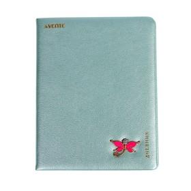 Дневник универсальный для 1-11 классов Light blue color with decoration, твёрдая обложка, искусственная кожа, тиснение фольгой, ляссе, тонированный блок