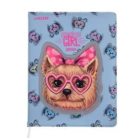 Дневник универсальный для 1-11 классов Love Kitty, твёрдая обложка, искусственная кожа, аппликация, ляссе