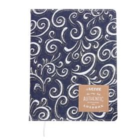 Дневник универсальный для 1-11 классов Pattern on the jeans, твёрдая обложка, шелкография, тиснение фольгой, ляссе, тонированный блок