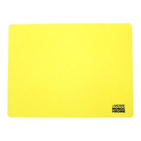Накладка на стол силикон А3, 400 х 300 мм, Monochrome неон жёлтое, в пластиковом боксе