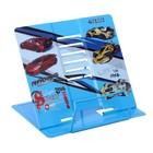 Подставка для книг металлическая deVENTE Racing, синяя, в пластиковом пакете