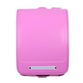 Ранец с клапаном, аналог Randoseru, 35 х 24 х 18, экокожа, малиново-розовый, в подарочной коробке
