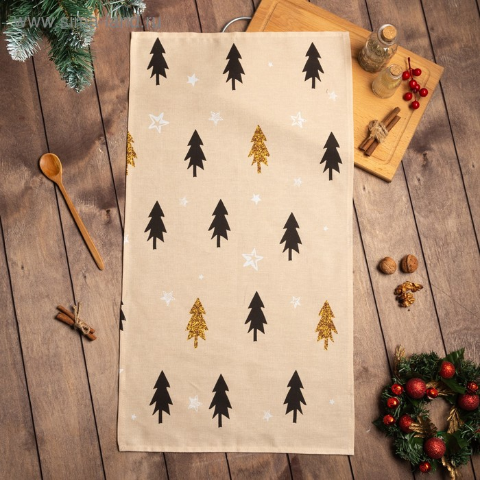 "Towel ""Share"" Christmas mood 40х70см, 100% cotton, Gunny 164 g/m2"