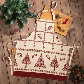 """Фартук  """"Доляна"""" Merry Christmas 60х65см, 100%хл, рогожка 164 г/м2"""