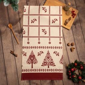 "Полотенце ""Доляна"" Merry Christmas 40х70см, 100%хл, рогожка 164 г/м2"