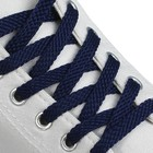 Shoelaces with a flat cross-section 10mm 130cm (FAS 25пар price for a pair) dark blue 40D REMBYT
