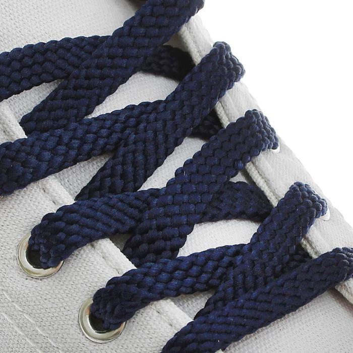 Шнурки для обуви плоские, 10 мм, 80 см, цвет тёмно-синий