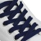 Шнурки для обуви плоские, 8 мм, 120 см, цвет синий