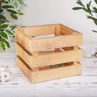 Ящик интерьерный реечный, 20×20×16,5 см, дерево, тонированный в лак