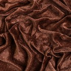 Бархат трикотаж 70х80 см, коричневый