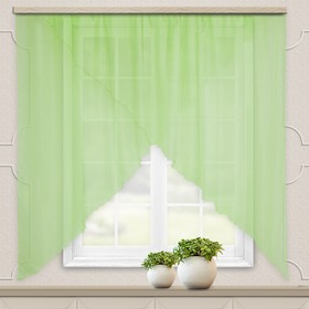 A set of curtains for the kitchen Marianna 300x160cm, light green, pe 100%