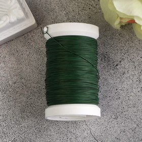 Flower wire on a spool 100 m, 0.35mm, green