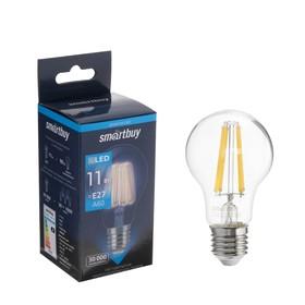 Лампа светодиодная Smartbuy, А60, Е27, 11 Вт, 4000 К, нейтральный белый свет