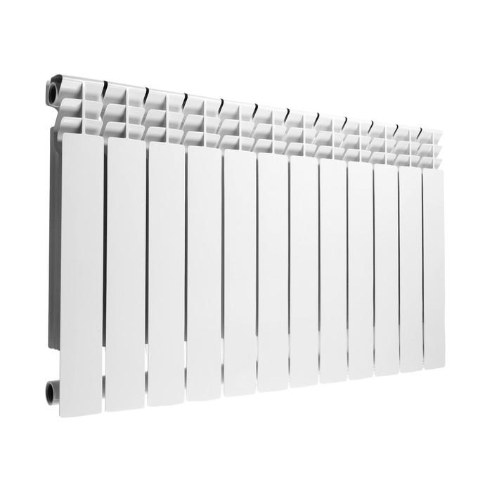 Радиатор алюминиевый Lammin PREMIUM, 500х80 мм, 12 секций