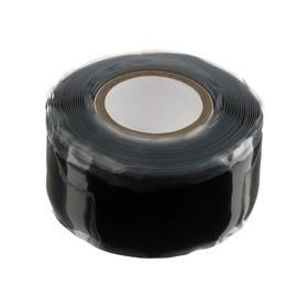 Изолента самовулканизирующаяся Smartbuy, 25 мм х 3 м, 500 мкм, силикон, черная