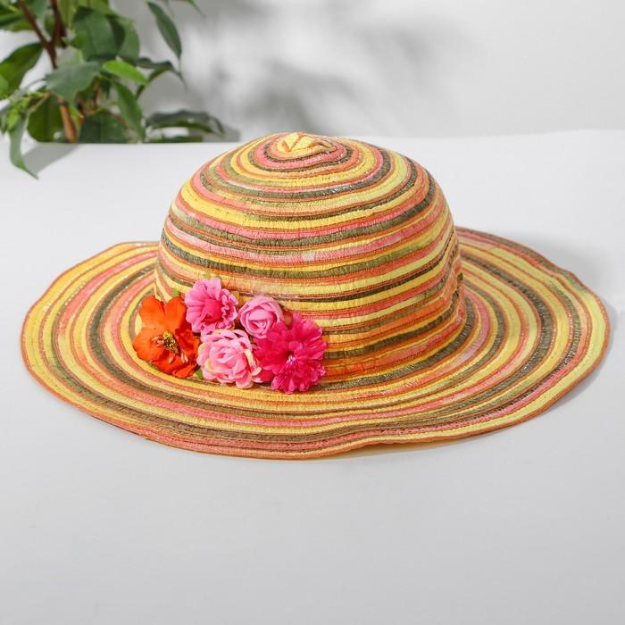 Шляпка «Цветочки», р-р. 50-52