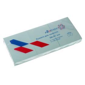 Набор блоков с липким краем 38 х 51мм, Attomex, 3 штуки х 100 листов, голубой